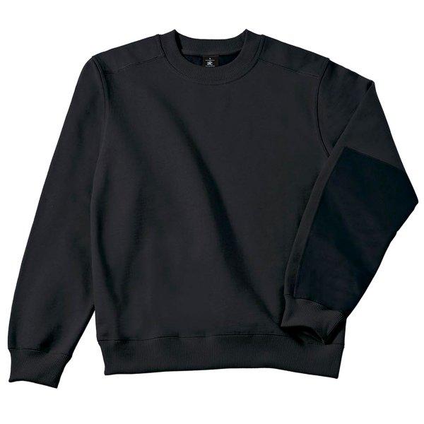 Sweatshirt einfarbig mit Rundhalsausschnitt 449020