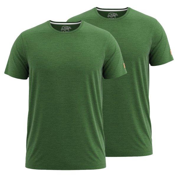 FORSBERG einfarbiges T-Shirt im Doppelpack