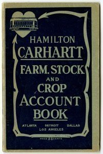 HAMILTON CARHARTT - FARM STOCK AND CROP ACCOUNT BOOK