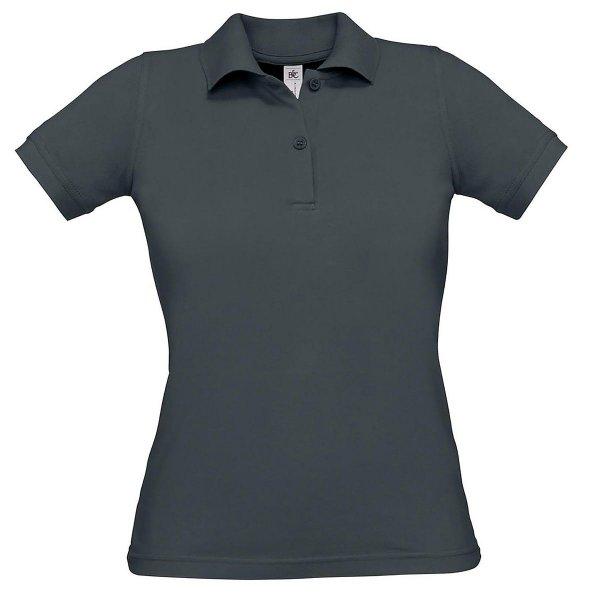Damen Poloshirt einfarbig aus Baumwolle