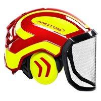 Protos Helm Integral Forest Farbe:rot/gelb;Ausstattung:feines Visier