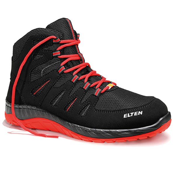 Elten MADDOX S3 Black-Red Mid ESD